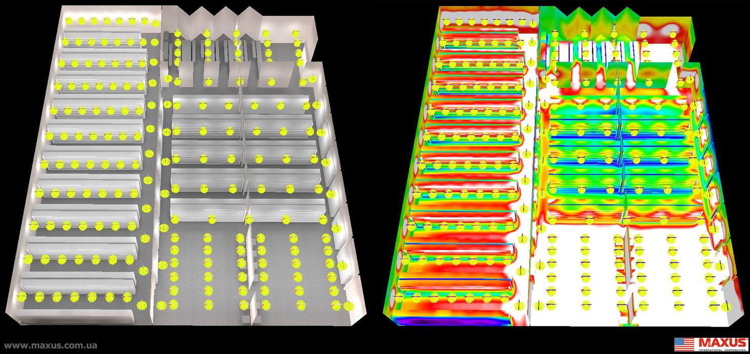 освещённость складского помещения