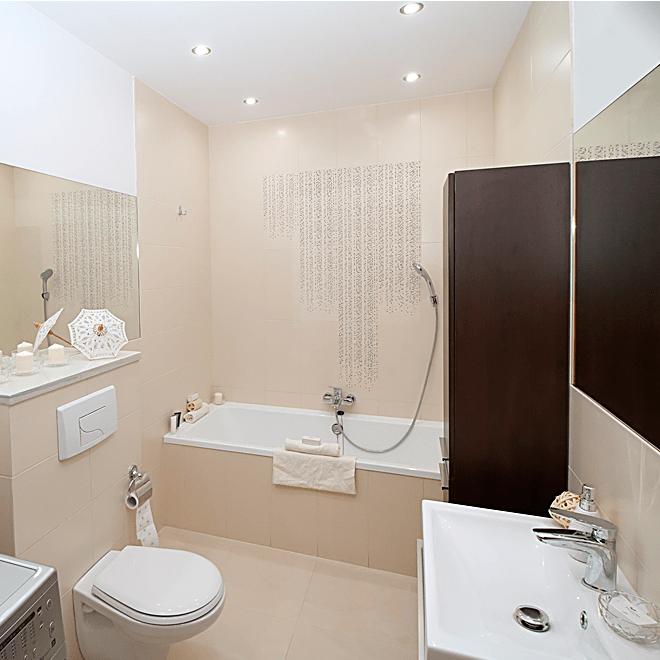 Точечный светильник MAXUS в ванной