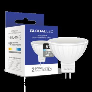 LED лампа GLOBAL MR16 5W яркий свет GU5.3 (1-GBL-114)