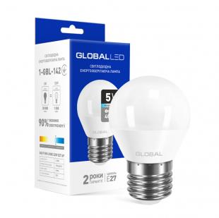 LED лампа GLOBAL G45 F 5W яркий свет E27 (1-GBL-142)