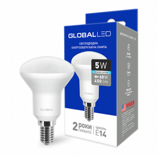 LED лампа GLOBAL R50 5W яркий свет 220V E14 (1-GBL-154)