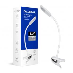 Настольная лампа GLOBAL DL-03 4W 4100K белая