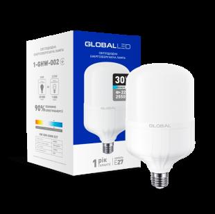 LED лампа (высокомощная) GLOBAL 30W 6500K E27 холодный свет (1-GHW-002)