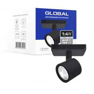 Світильник світлодіодний GSL-02S GLOBAL 4W 4100K чорний