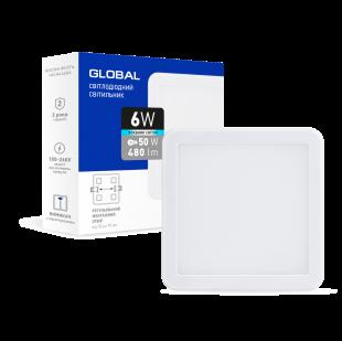 Точечный врезной LED-светильник GLOBAL SP adjustable 6W, 4100K (квадрат)