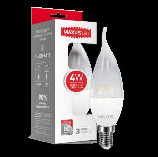 LED лампа MAXUS C37 CL-T 4W теплый свет E14 (1-LED-5315)