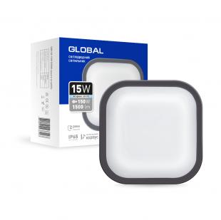 Антивандальный LED-светильник GLOBAL GBH 08 15W 5000K графит (квадрат)