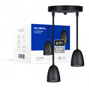 Світильник світлодіодний GPL-01C GLOBAL 14W 4100K чорний