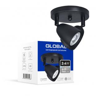 Світильник світлодіодний GSL-01C GLOBAL 8W 4100K чорний