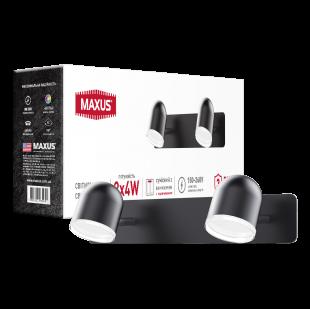Спотовый светильник MAXUS MSL-01W 2x4W 4100K черный