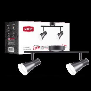 Спотовый светильник MAXUS MSL-02C 2x4W 4100K черный