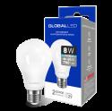 LED лампа GLOBAL A60 8W яркий свет E27 (1-GBL-162)