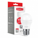 LED лампа MAXUS G45 6W теплый свет E27 (1-LED-541)