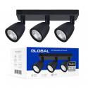 Світильник світлодіодний GSL-01S GLOBAL 12W 4100K чорний