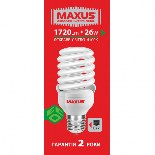 КЛЛ лампа 26W яркий свет FS E27 220V (1-ESL-016-01)