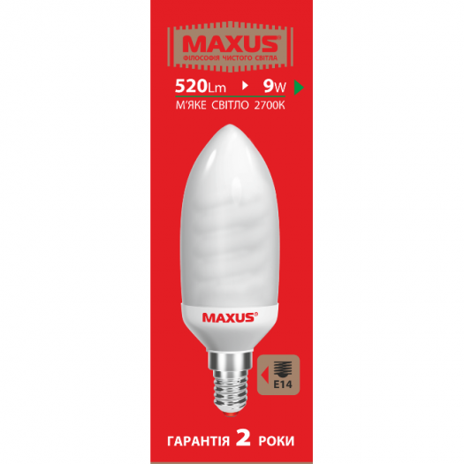 КЛЛ лампа 9W теплый свет FS E14 220V (1-ESL-351)