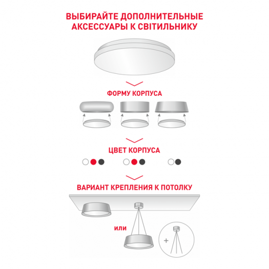 Декоративний корпус на светильник Maxus, металл, белый (1-FHA-02-WH)