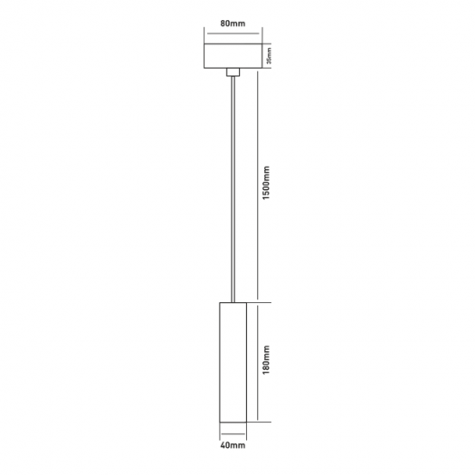Подвес Maxus 6W теплый свет, 180MM круглый белый (1-FPL-001-01-C-WH)
