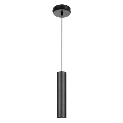 Підвісний світильник Maxus 6W тепле світло 180мм круглий чорний