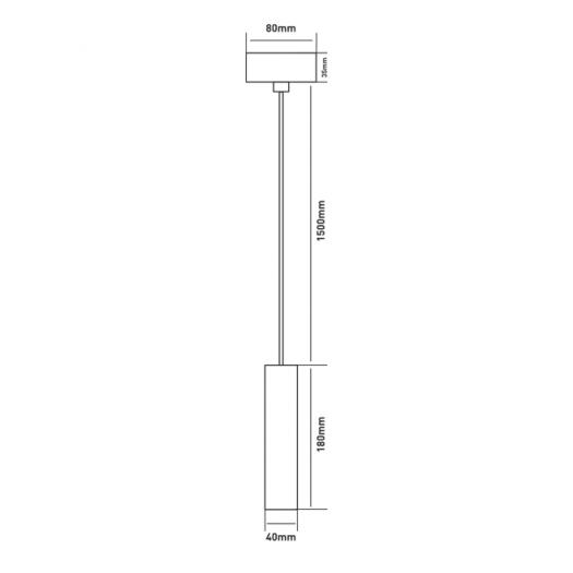 Подвес Maxus 6W теплый свет, 180MM круглый черный (1-FPL-003-01-C-BK)