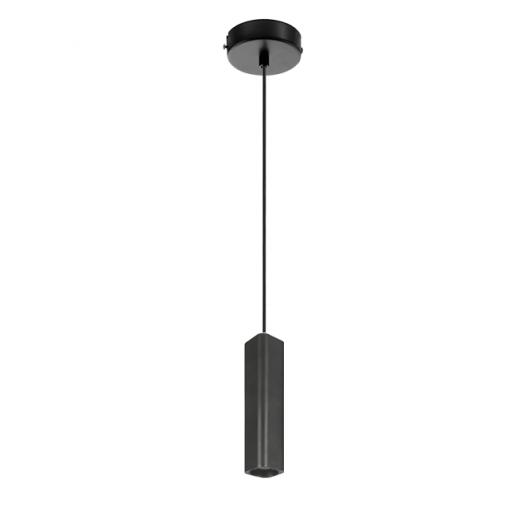 Підвісний світильник Maxus 6W тепле світло 180мм квадратний чорний