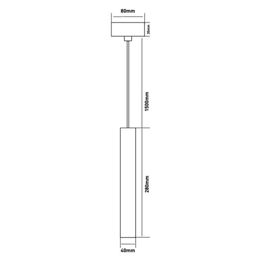 Подвес Maxus 6W теплый свет, 280MM круглый белый (1-FPL-005-01-C-WH)