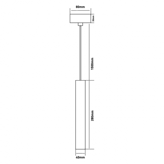 Подвес Maxus 6W теплый свет, 280MM квадратный белый (1-FPL-005-02-S-WH)