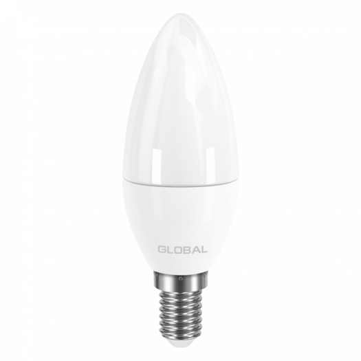 LED лампа GLOBAL C37 CL-F 5W яркий свет E14 (1-GBL-134)