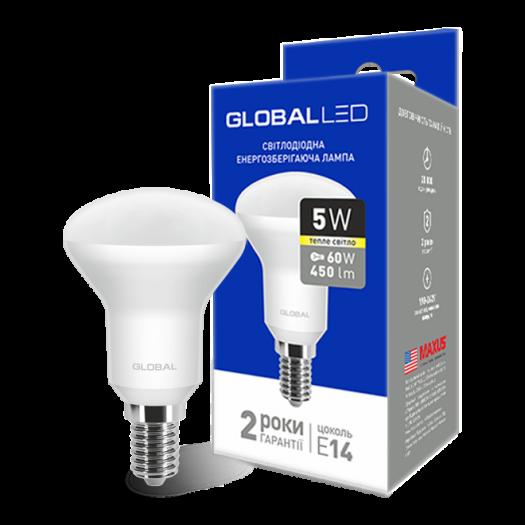 LED лампа Global R50 5W тепле світло 220V E14 (1-GBL-153)