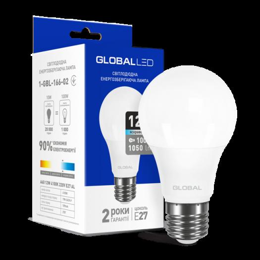 LED лампа GLOBAL A60 12W яскраве світло 220V E27 (1-GBL-166-02)
