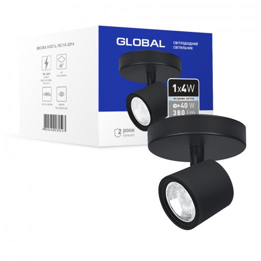 Світильник світлодіодний GSL-02C GLOBAL 4W 4100K чорний