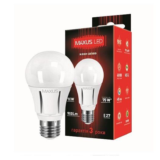 LED лампа 10W теплый свет А60 Е27 220V (1-LED-297)