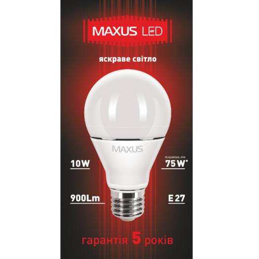 LED лампа MAXUS  10W яркий свет А60 Е27(1-LED-370)
