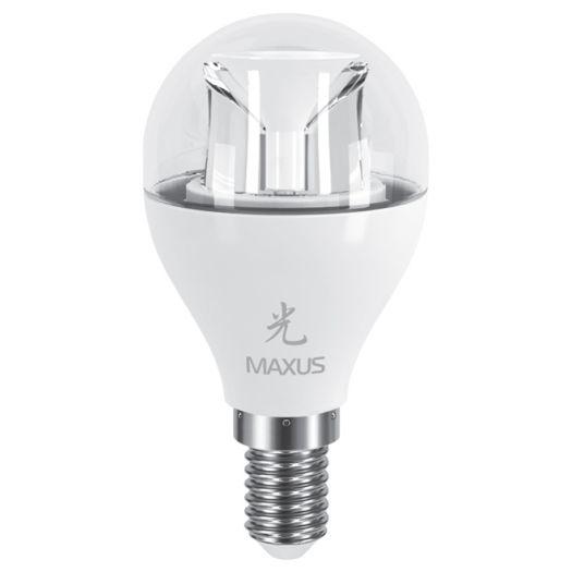LED лампа MAXUS 6W теплый свет G45 Е14 (1-LED-435)