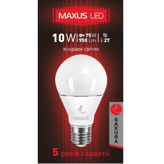 LED лампа 10W яркий свет А60 Е27 220V (1-LED-464)