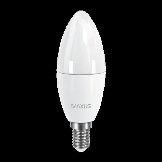 LED лампа MAXUS C37 6W яркий свет E14 (1-LED-534-02)