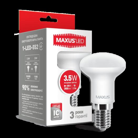LED лампа Maxus R39 3.5W яскраве світло E14 (1-LED-552-01)