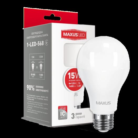 LED лампа Maxus A70 15W яскраве світло E27 (1-LED-568)