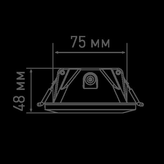 Умный светильник MAXUS 3-step 9W (сменные яркость и тон) квадрат