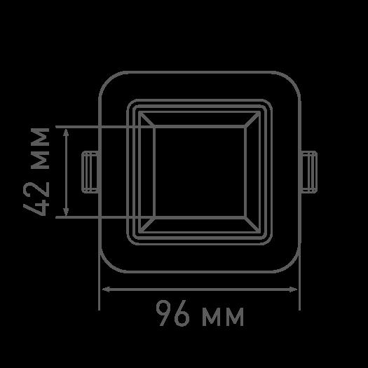 Умный светильник MAXUS 3-step 12W (сменные яркость и тон) квадрат
