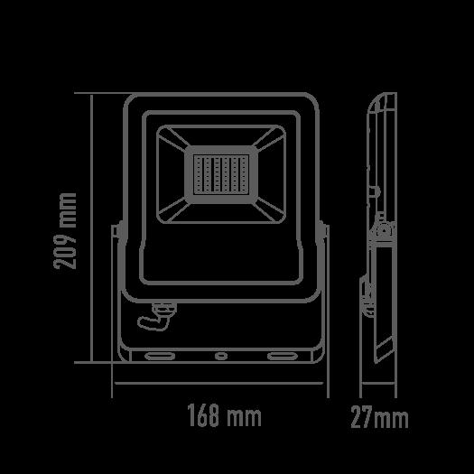 Светодиодный прожектор MAXUS 30W, 5000K