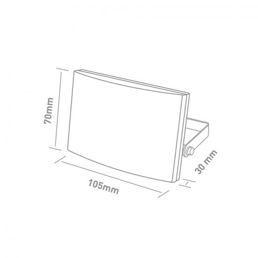 Прожектор MAXUS FL-03 10W, 5000K Black