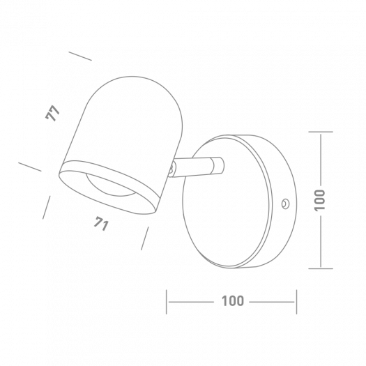 Спотовый светильник MAXUS MSL-01C 4W 4100K черный