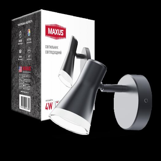 Спот світильник MAXUS MSL-02C 4W 4100K чорний