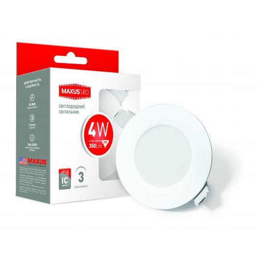 LED светильник точечный врезной MAXUS SDL, 4W теплый свет (1-SDL-001-01)