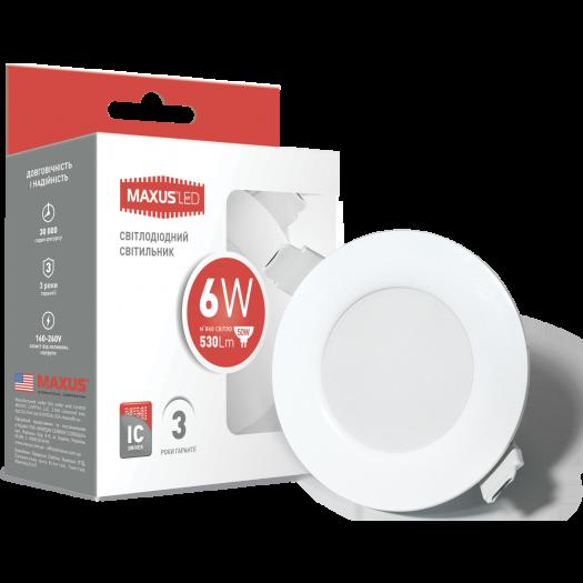 Точковий світильник Maxus 6W тепле світло (1-SDL-003-01)