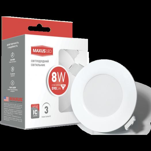 LED светильник точечный врезной MAXUS SDL, 8W теплый свет (1-SDL-005-01)