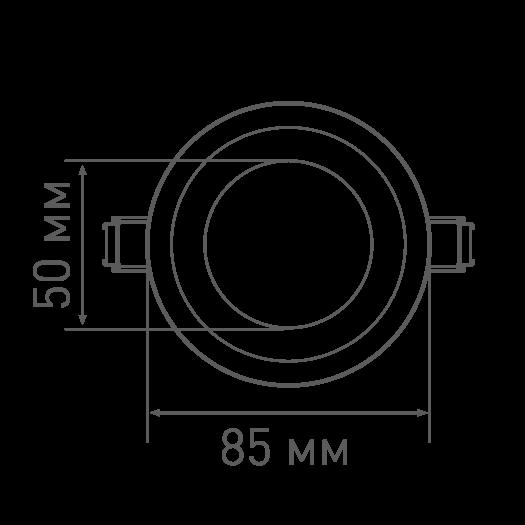 LED светильник MAXUS SDL,8W теплый свет (1-SDL-005-01)