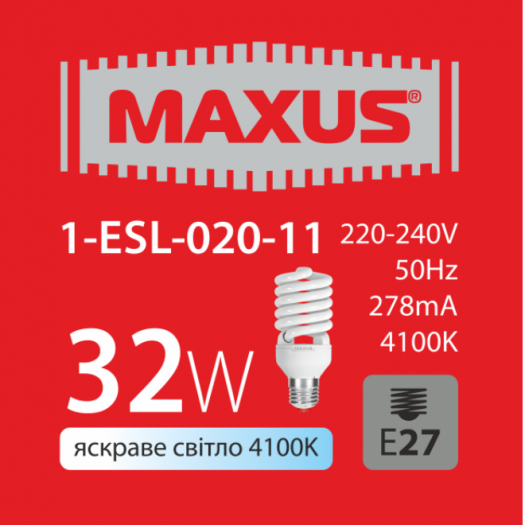 КЛЛ лампа 32W яскраве світло Xpiral Е27 220V (1-ESL-020-11)