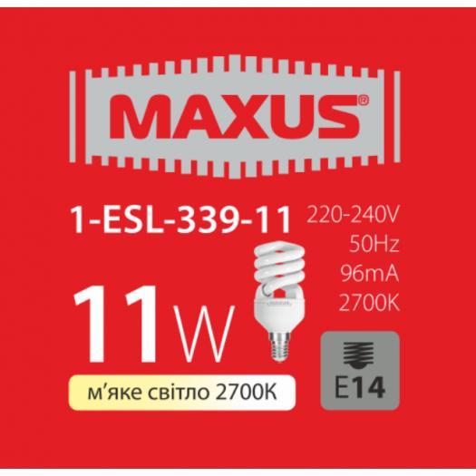 КЛЛ лампа 11W тепле світло Xpiral Е14 220V (1-ESL-339-11)